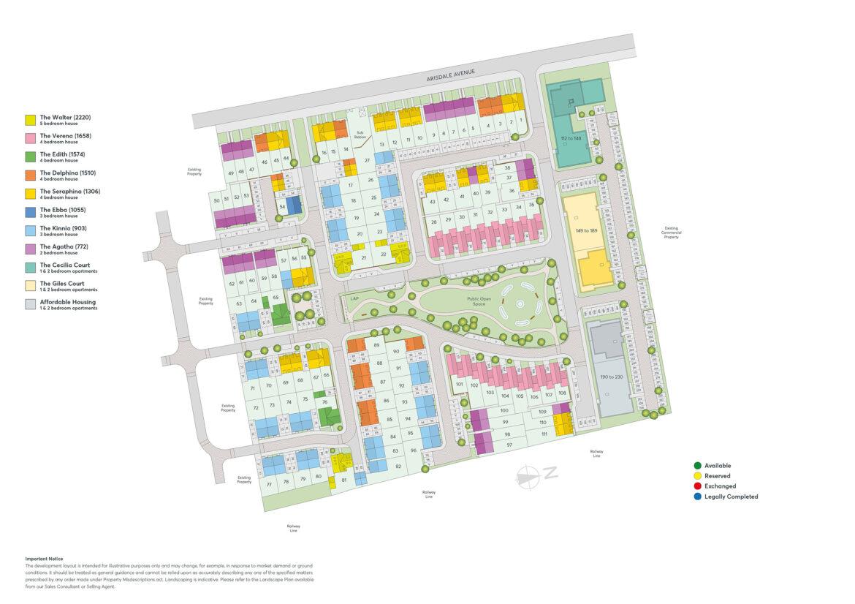 Bennetts Fields Site Plan
