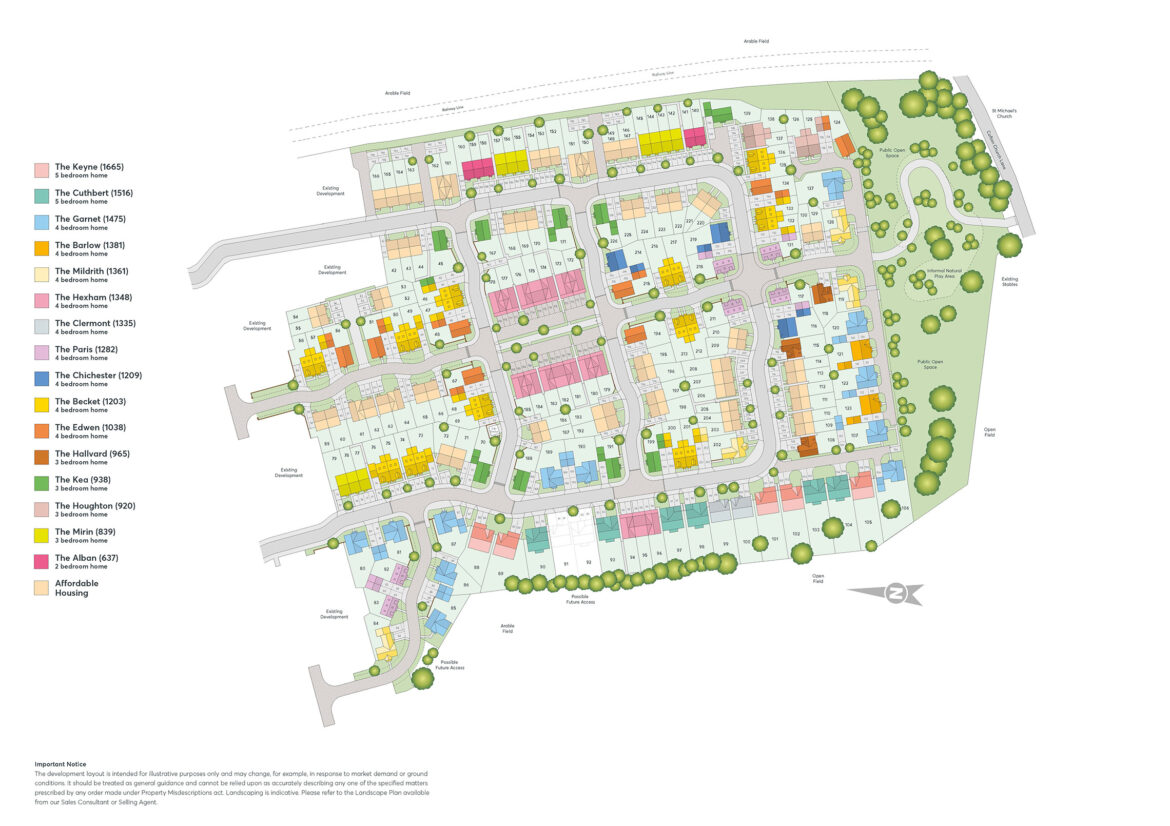 Cofton Grange Site Plan