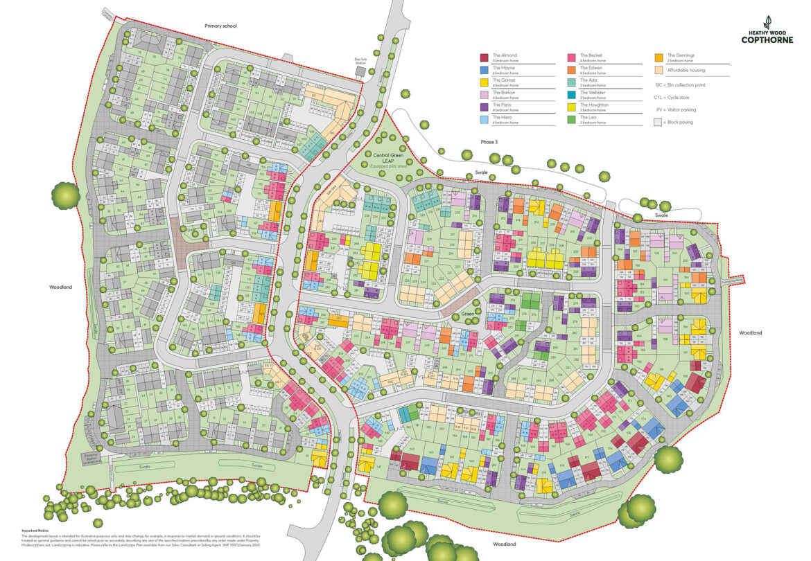 Heathy Wood Core Site Plan