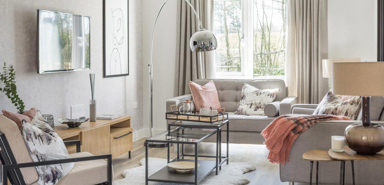 The Ruby Heathy Wood Living Room
