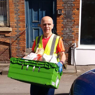 The Wantage Mix - Volunteer Gary delivering
