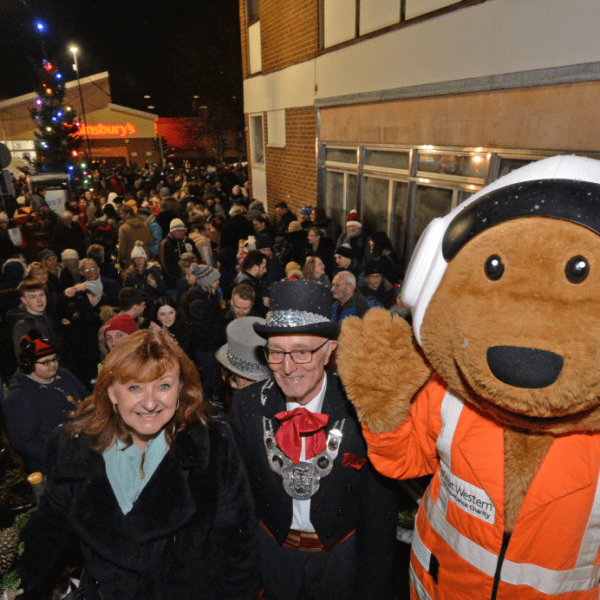 Dursley Town's Christmas light switch on