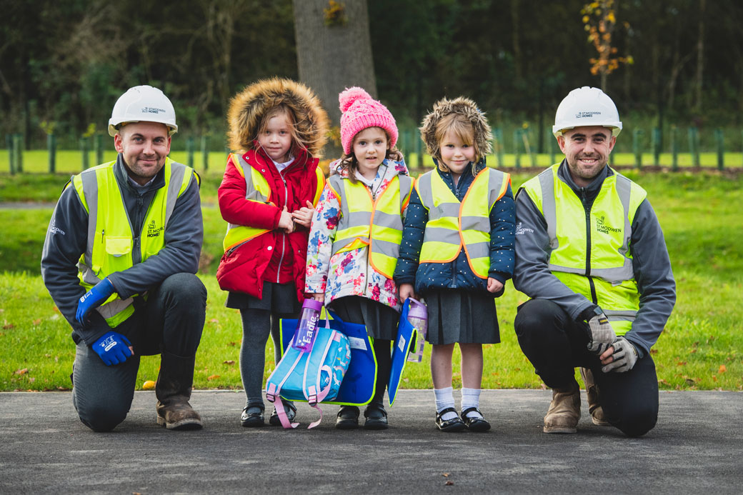 Helping pupils from The Mease Spencer Academy walk to school safely