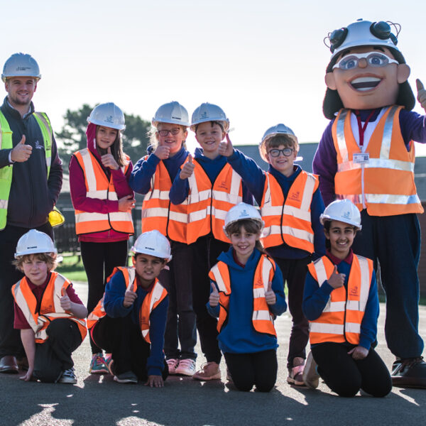 Swansea school pupils learn about careers in construction