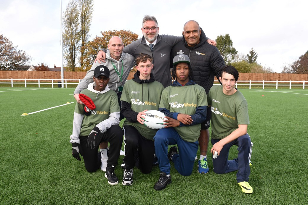 St. Modwen Homes teams up with disadvantaged teenagers on the rugby pitch