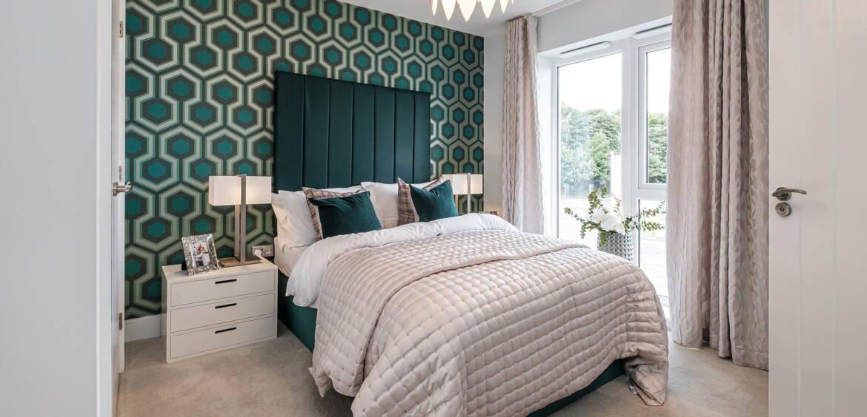 Chichester green bedroom