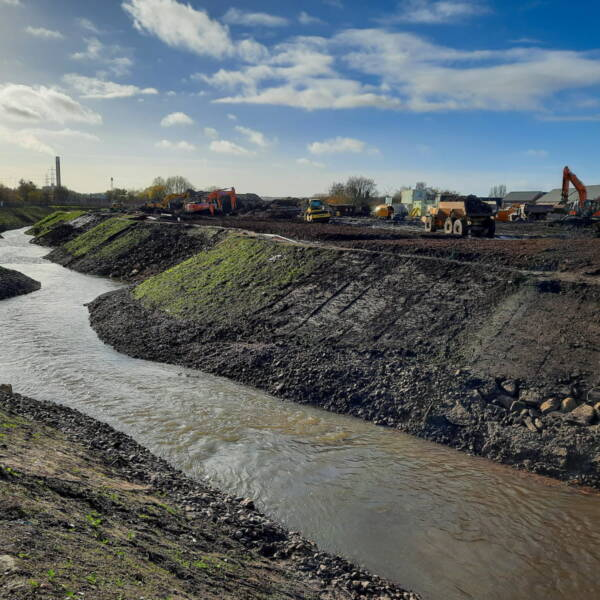 Historic diversion of the River Trent is now complete image